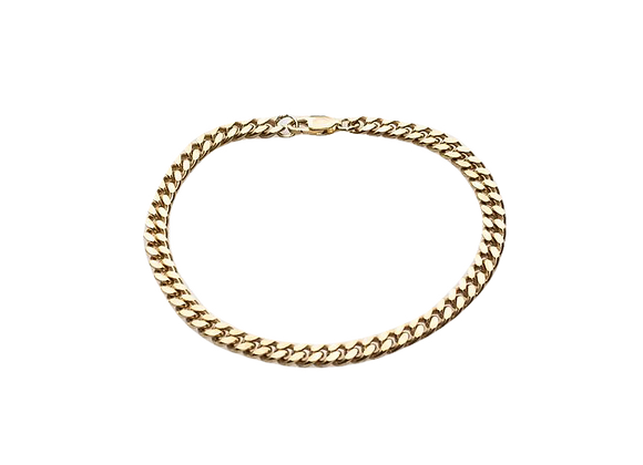 simple chain bracelet - 24k gold plated
