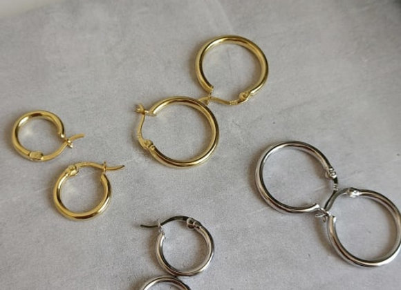Jane Hoops 18mm - 14k gold plated