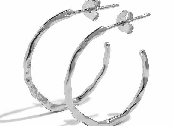 luna hoops - sterling silver