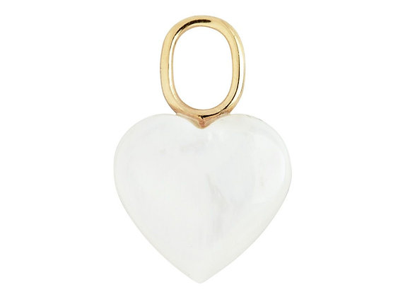 Mother heart charm - gold