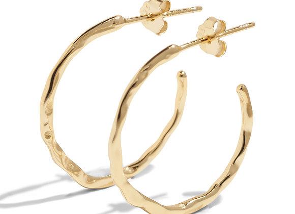 luna hoops - 18k gold plated