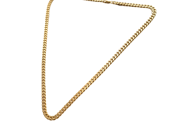 simple chain necklace - 24k gold plated