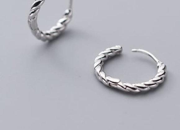 Mila Hoops - Sterling Silver
