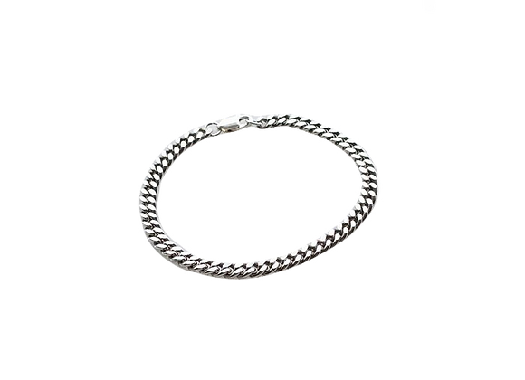 simple chain bracelet - sterling silver