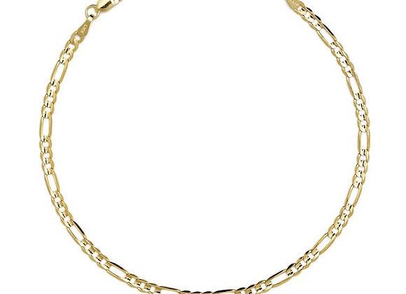 Figaro fine bracelet - gold plated