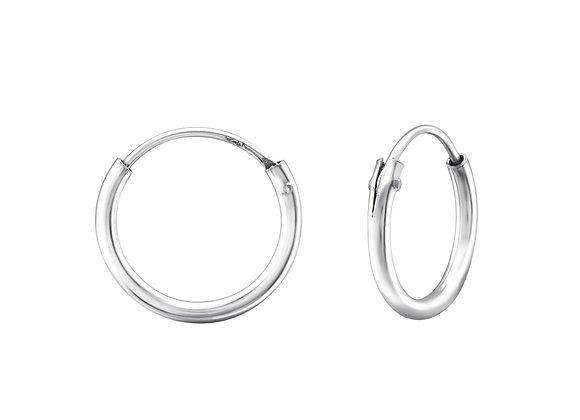 basic hoop 12mm - sterling silver