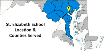 Counties served in central maryland