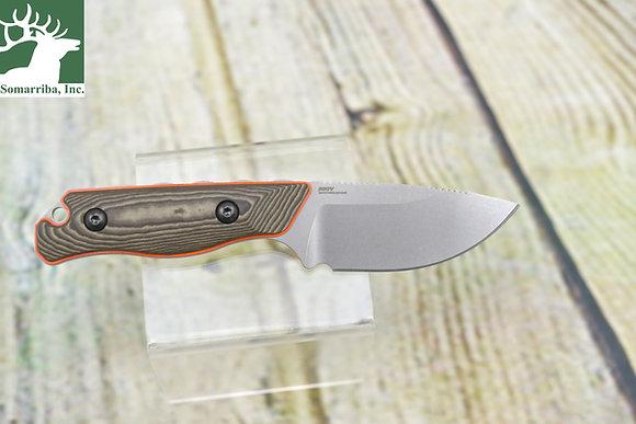 BENCHMADE KNIFE 15017-1 HIDDEN CANYON HUNTER, FB, RICHLITE ORANGE G10  HANDLE