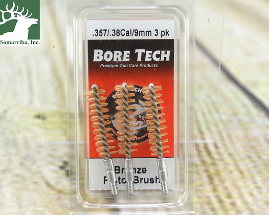 BORE TECH BTBP-38-003 BRONZE PISTOL BRUSH .357/.38/9MM