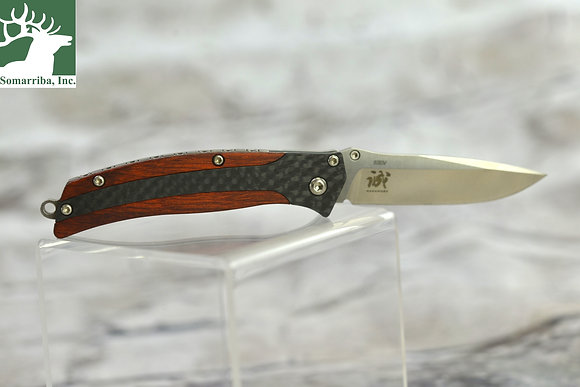 """BENCHMADE KNIFE 482 MEGUMI PREMIUM STAINLESS STEEL 2.48"""" BLADE, COCOBOLO WOOD HA"""