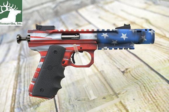 "VOLQUARTSEN PISTOL VC3SN-0455  .22 LR American Flag Scorpion, 4.5"""