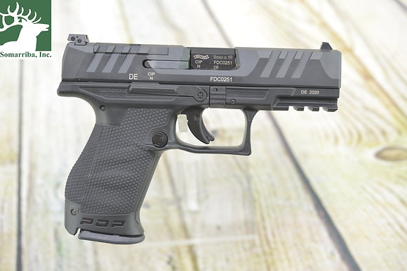 """WALTHER ARMS PISTOL 2851229 PDP COMPACT OPTIC READY  9mm 4"""" (2) 15 RND MAGS"""