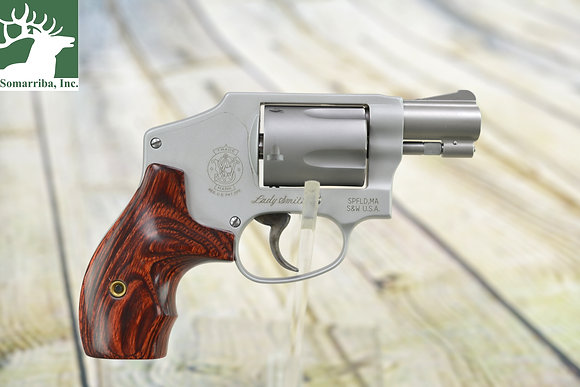"""S&W REVOLVER 163808 642 LADYSMITH AIRWEIGHT 38 SPECIAL 1.87"""" 5RDS SS/WOOD GRIP"""