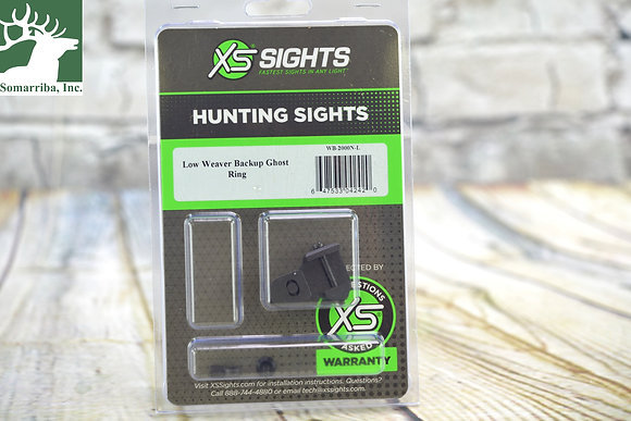 XS SIGHTS Low Weaver Backup Ghost Ring
