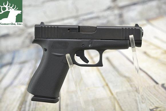 """Glock pistol UA4850201 G48 9mm Luger 4.17"""" 10+1 Black Black Steel Black Beaver"""