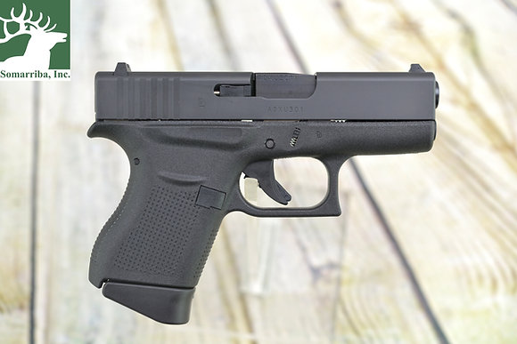 "GLOCK UI4350201 G43 SUBCOMPACT 9MM LUGER 3.39"" 6+1 FS BLACK POLYMER GRIP FIXED"