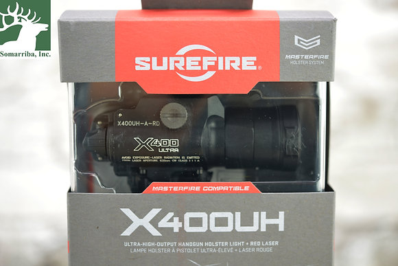 Surefire X400UHARD X400 Ultra White LED 1000 Lumens Red Laser CR123A Lithium Bat
