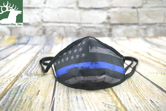 ELITE SURVIVAL SYSTEMS FACE MASK GD MASK-BLN2 - THIN BLUE LINE