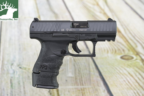 """Walther Arms Pistol 2815249 PPQ M2 Subcompact 9mm Luger 3.50"""" 10+1 15+1 Black Bl"""