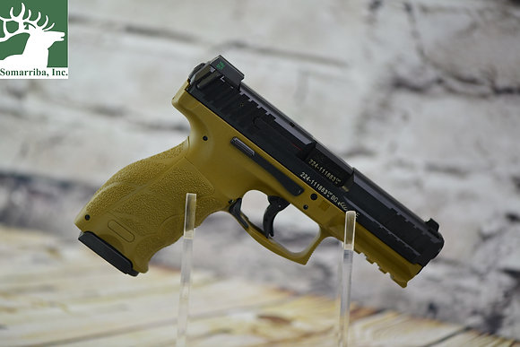 "HK PISTOL VP9 9MM FDE 4.1"" BARREL, 15+1 RDS, NIGHT SIGHTS,  3 BAC"