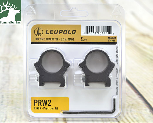 LEUPOLD 174081 PRW2 RINGS 1IN MD MT UNIVERSAL CROSS-SLOT COMPATIBILITY