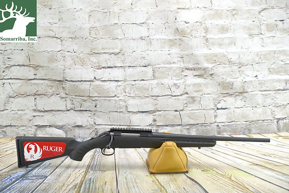 """RUGER 6907 AMERICAN COMPACT 308 WIN 4+1 RNDS 18"""" BBL MATTE BLACK BLACK SYNTHETIC"""
