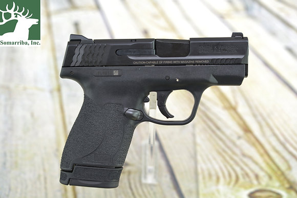 """SMITH & WESSON 11808 M&P 9 SHIELD M2.0 9MM LUGER DOUBLE 3.1"""" 7+1/8+1 NMS BLACK"""