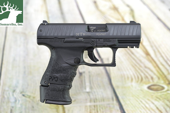 "WALTHER ARMS PISTOL 2829789 PPQ M2 SUB COMPACT 9mm 3.5"" BBL BLK LE (3) MAGAZINES"