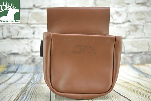 PROTEKTOR TRAP OR SKEET SHOOTERS BAG TOP GRAIN LEATHER
