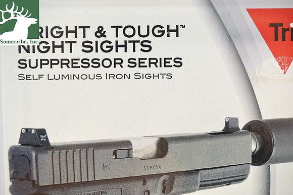 TRIJICON GL204-C-600689 BRIGHT & TOUGH NIGHT SIGHT SUPPRESSOR SET  - WHITE FRONT