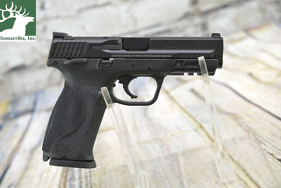 "Smith & Wesson 11524 M&P 9 M2.0 9mm Luger 4.25"" 17+1 Black Stainless Steel Black"