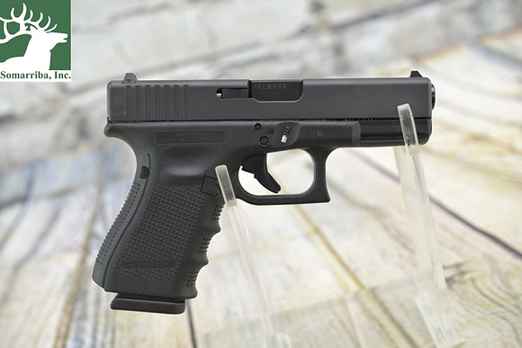"""GLOCK UG1950203 G19 GEN 4 COMPACT 9MM LUGER 4.01"""" BBL (3) 15 ROUND MAGS BLACK"""