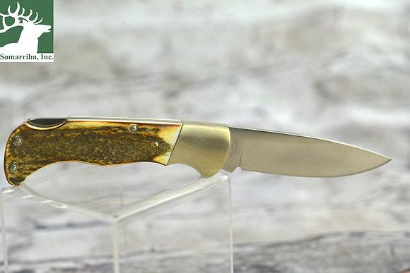 """BOKER KNIFE STAG FOLDING HUNTER 3"""" BLADE"""