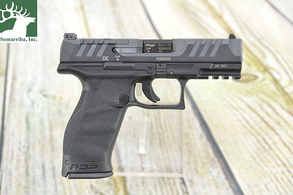 """WALTHER ARMS PISTOL 2851237   PDP FULL SIZE OPTIC READY   9mm   4"""" BBL (2) 18RND"""