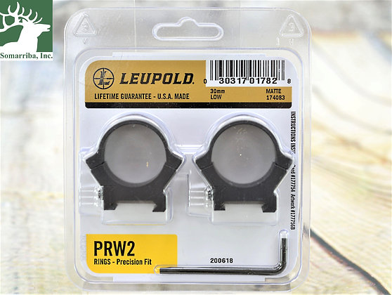 LEUPOLD RINGS 174083 PRW 2 30MM LOW HEIGHT UNIVERSAL CROSS-SLOT COMPATIBILITY