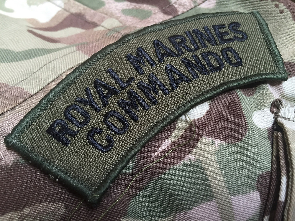 Royal Marines Commando Flash with Irish Pennant