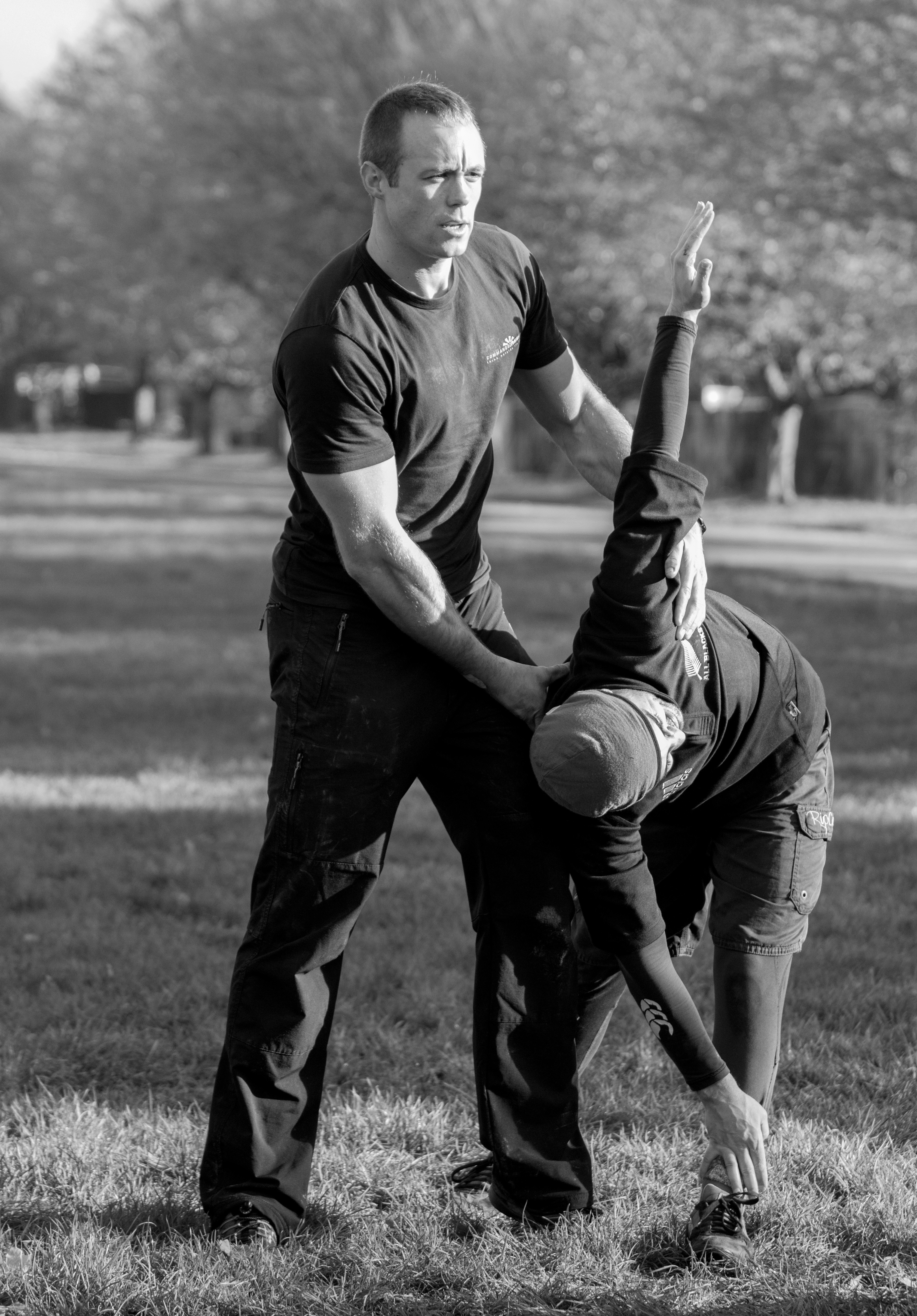 Me stretching Kiwi