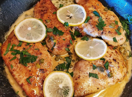 Keto Lemon Chicken Piccata