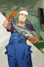 キャラクター漁師