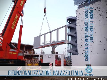 AREXPO HUMAN TECHNOPOLE RIFUNZIONALIZZAZIONE PALAZZO ITALIA  CABINA IN C.A.V. A PANNELLI PRECABL