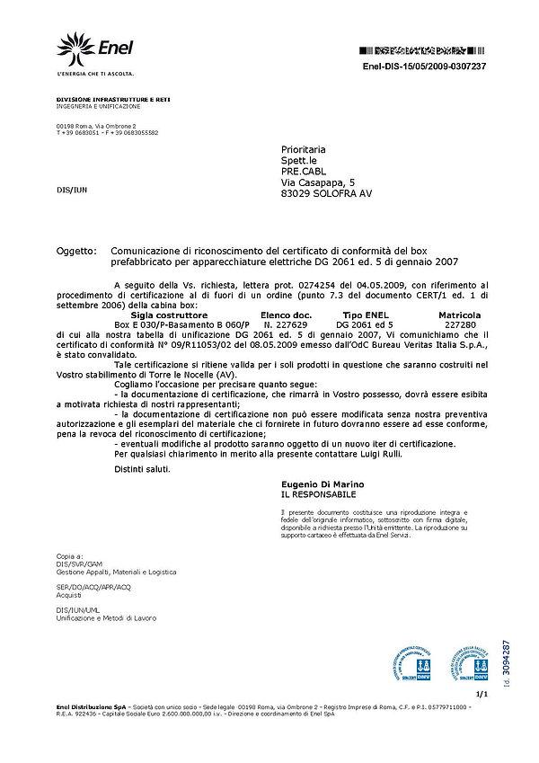 CERTIFICATO ENEL DG 2061 ED.V.jpg