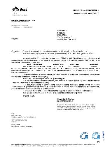 CERTIFICATO ENEL DG 2061 ED.V.png