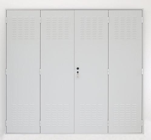 Porta  in lamiera zincata  dim.(mm) :2405 x 2175 x 45