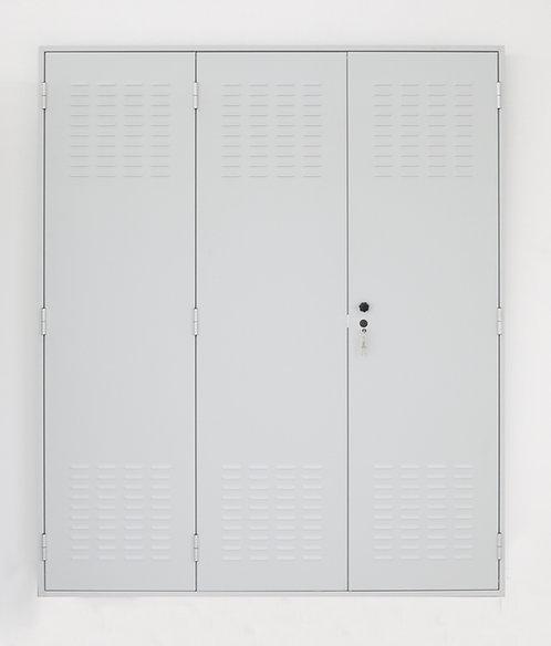 Porta  in lamiera zincata dim.(mm) :1813 x 2175 x 45