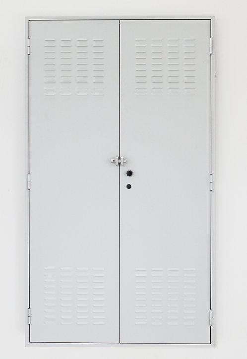 Porta  in lamiera zincata dim.(mm) :1225x2175x45