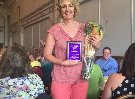 Sue Wilkerson - Junior League Sustainer and former President - Receives the Mattie Wattis Harris Awa
