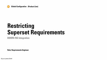 Variant Management of Requirements in  IBM DOORS NG and DOORS 9
