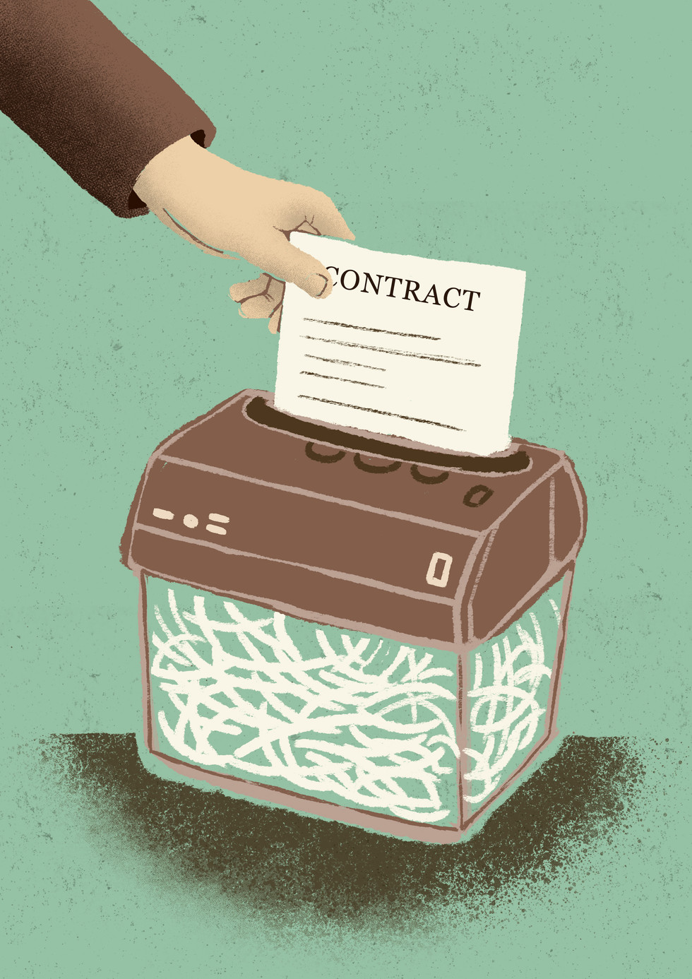 Destruction of contracts
