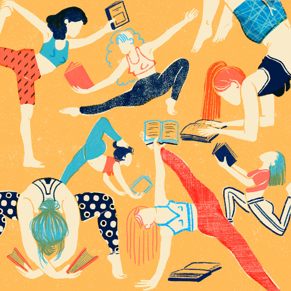 Yoga practice for readers