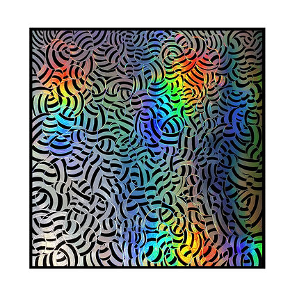 """""""Banded"""" Holographic Scratch Art"""